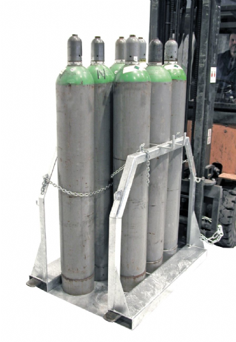Steel gas cylinder pallets. Type SFP
